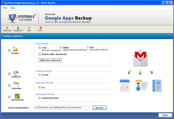 Most Proficient Google Apps Gmail Backup Tool